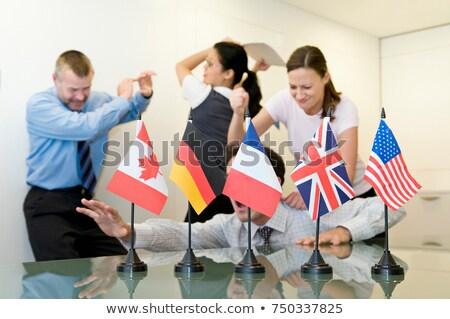 за флагами человека бизнесмен Сток-фото © IS2