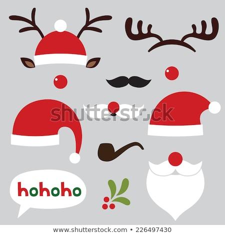 reindeer in christmas santa hat stock photo © krisdog