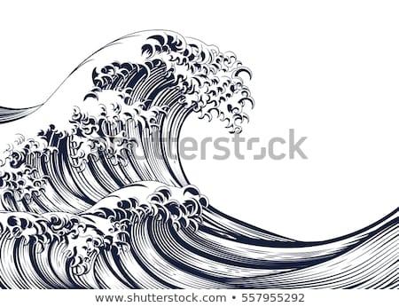 волна Японский стиль Сток-фото © Krisdog