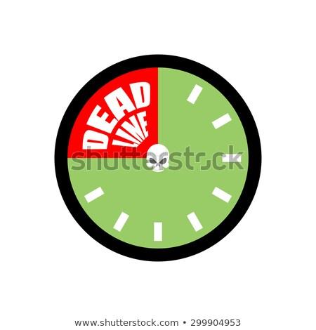 Date limite up horloge bureau fond métal Photo stock © popaukropa