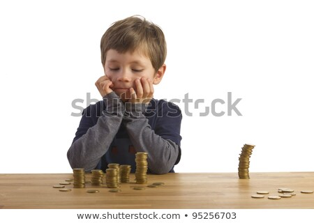 Children counting a pile of money Stock photo © IS2