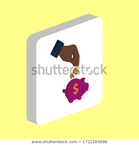Insert isometric icon, isolated on color background Stock photo © sidmay