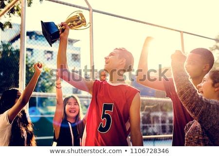 Nino baloncesto trofeo diversión retrato Foto stock © IS2