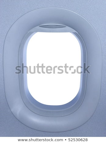 Airplane window. View has been removed from the image Stock photo © artjazz