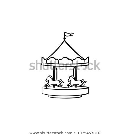 playground roundabout hand drawn outline doodle icon stock photo © rastudio
