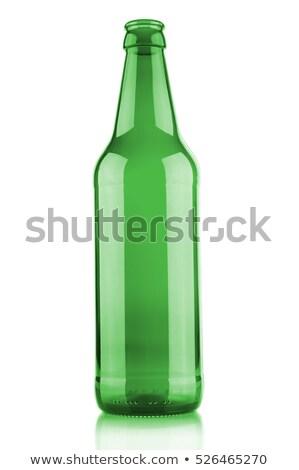 leer · grünen · Bierflasche · Glas · ein · anderer · Tröpfchen - stock foto © digifoodstock