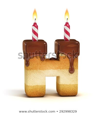 Doğum günü mektup mum yıldönümü Stok fotoğraf © popaukropa