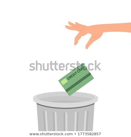 металл · мусорное · ведро · белый · иллюстрация · фон · искусства - Сток-фото © robuart