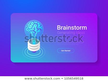 Beyin fırtınası yenilik çözüm izometrik vektör yaratıcı Stok fotoğraf © TarikVision
