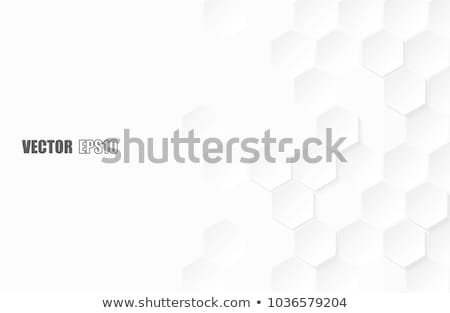 Witte zeshoek structuur 3d illustration abstract ontwerp Stockfoto © limbi007