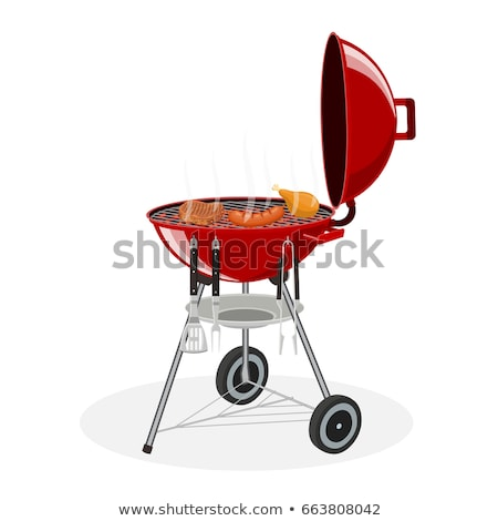 Grill Barbecue Party Hot Set Vector Illustration Stock photo © robuart
