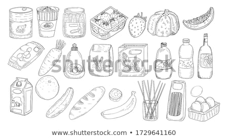 Canned Tomatoes and Cucumbers Vector Illustration Stock photo © robuart
