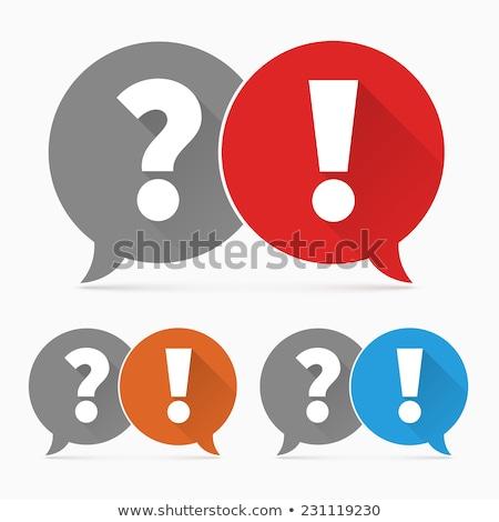 ünlem işareti turuncu vektör logo ikon bilgi Stok fotoğraf © blaskorizov