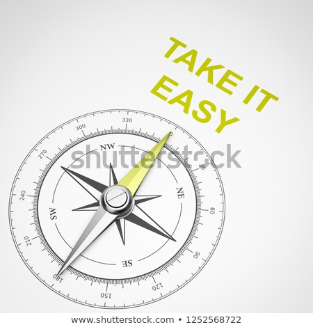 Compass on White Background, Take It Easy Concept Stock photo © make