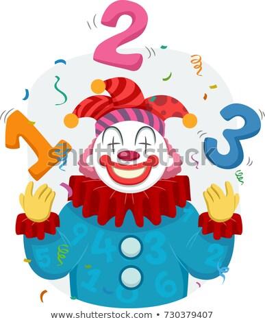clown · cartoon · illustratie · grappig · hoorn - stockfoto © lenm