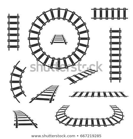 ícones trem transporte ferrovia negócio projeto Foto stock © netkov1