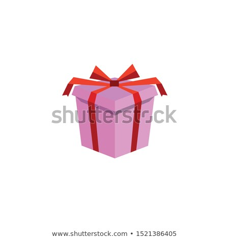 Set of colorful simple gift boxes with ribbon bow isolated on white background. Sample of poster, pa Stock photo © Lady-Luck