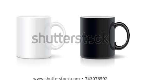 Kolorowy ceramiczne kubek pusty biały pić Zdjęcia stock © magraphics
