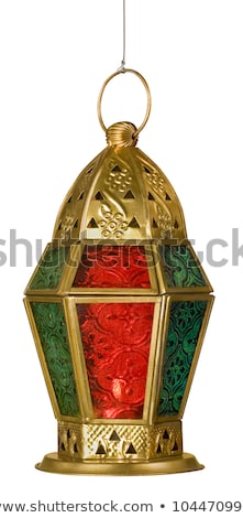red decorative islamic lantern on white background Stock photo © SArts