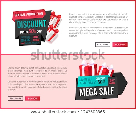 mega sale limited time only isolated gift label stock photo © robuart