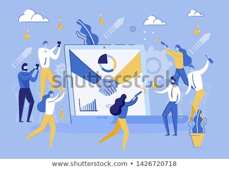 Corporate Party Meeting Business Employees Vector Stock photo © robuart