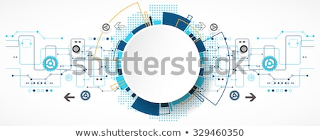 Network template. Digital background with connections circle Stock photo © designleo