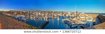 Anntibes waterfront anf Port Vauban harbor panoramic view stock photo © xbrchx