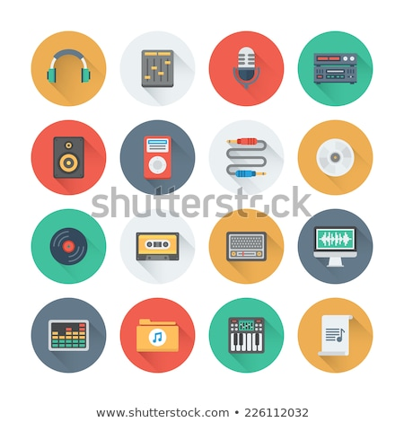set of sound icons vector design flat style volume levels stock photo © kyryloff
