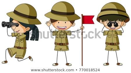 üç farklı çocuk arka plan sanat çocuk Stok fotoğraf © colematt