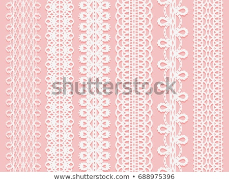 Retro seamless lace vector design - detailed vector wedding lace pattern with flowers and swirls, sy Stock photo © RedKoala
