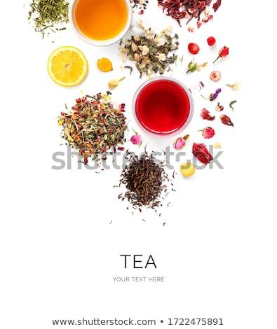 válogatás · száraz · virág · tea · fekete · kő - stock fotó © karandaev