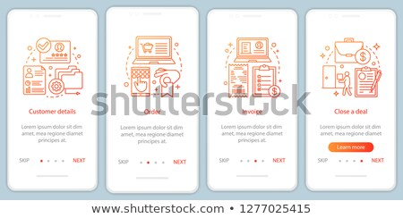 E-invoicing app interface template. Stock photo © RAStudio