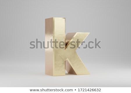Character K on white background. Isolated 3D illustration stock photo © ISerg