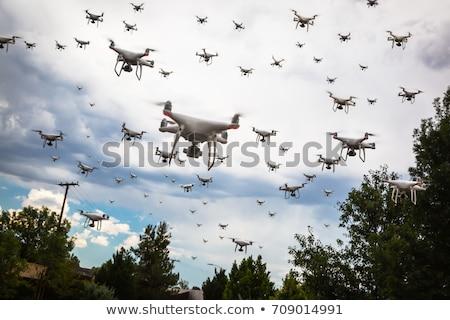 Bulutlu gökyüzü teknoloji ordu hava tehlike Stok fotoğraf © feverpitch