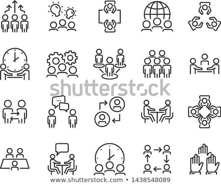 Głosowanie człowiek ikona przycisk projektu Zdjęcia stock © angelp