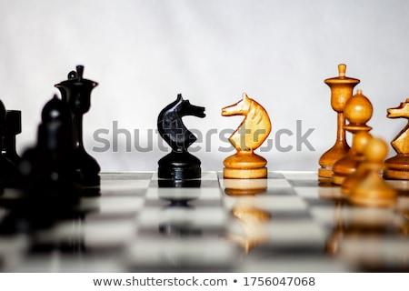 Begin spel twee schaken teams verschillend Stockfoto © Freedomz