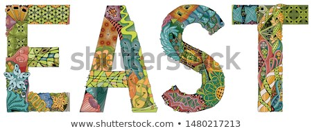 Word East. Vector zentangle object for decoration Stock photo © Natalia_1947