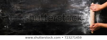 Ruw brood ingrediënten zwarte top Stockfoto © Freedomz