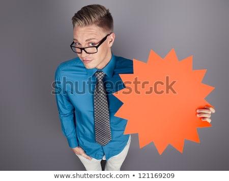 セールスマン パネル スペース 広告 幻想的な ストックフォト © lichtmeister