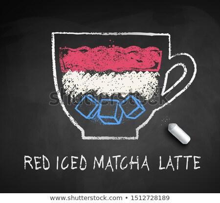 Vetor esboço gelado vermelho peça giz Foto stock © Sonya_illustrations