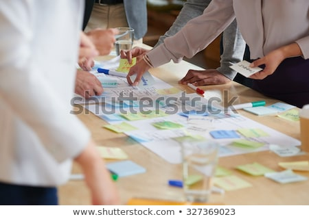 Group Of People Writing On Sticky Notes Stock photo © AndreyPopov
