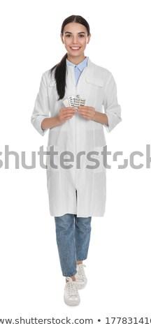 小さな 化学者 孤立した 白 学生 ラボ ストックフォト © Elnur