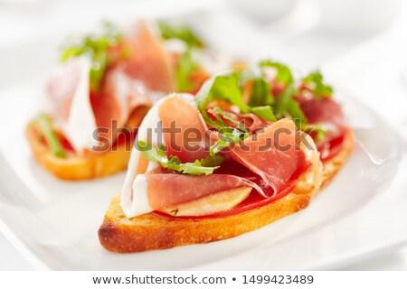 Italian bruschetta with parma ham Stock photo © Alex9500