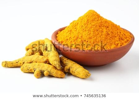 Poeder wortel kom vers indian Geel Stockfoto © furmanphoto
