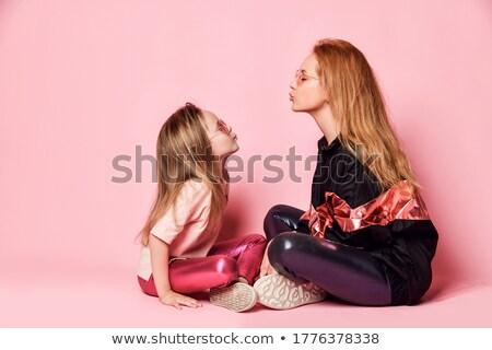 материнство отношения стиль модный молодые матери Сток-фото © vkstudio