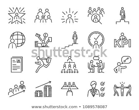зарплата работу икона вектора иллюстрация Сток-фото © pikepicture