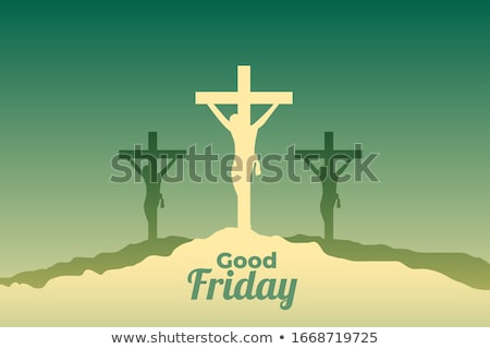 jesus christ crucifixion scene for good friday event design Stock photo © SArts