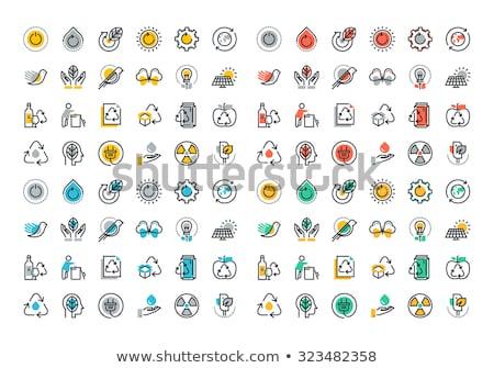 行 カラフル アイコン コレクション 再生可能エネルギー 緑 ストックフォト © PureSolution