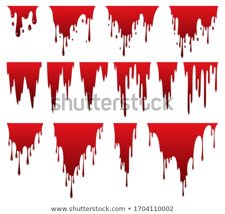 Liquid paint dripping. Oil stain. Red ink streak, fluid smudge. Abstract blob. Vector illustration o Stock photo © designer_things