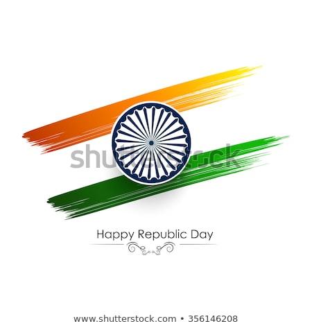 Grunge escove Índia bandeira branco isolado Foto stock © evgeny89